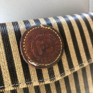 Fendi Bags - Vintage Fendi roma Italy 1925 pin striped wallet.